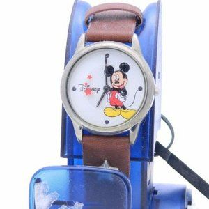 Disney MICKEY MOUSE WATCH New Brown Leather Band